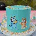 Bluey and  Bingo Edible Icing Cake Topper Set PRE CUT #730