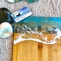 3D Ocean Resin   Personalised Serving Board   Cheese Board Set