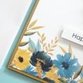 Handmade Age Birthday Card, Yellow & Blue Flowers, Birthday Card For Her
