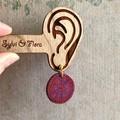 Swirl Pattern Earrings | Round Earrings | Canework earrings
