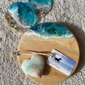 Translucent Turquoise   Cheese Board Set   Personalised   Coaster Set