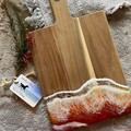Golden Sunset Ocean Resin   Personalised Serving Board   Cheese Board  