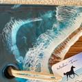 Dark Turquoise Shimmer   Ocean Personalised Serving Board   Cheese Board  