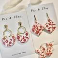 Plum floral earrings