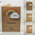 Handmade Greeting Card with Rainbow