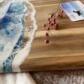 Blue & Aqua Ocean Resin | Personalised Serving Board | Cheese Board |