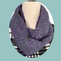 Merino Wool Loop Scarf, Handwoven, Hand Dyed, Aqua & Lilac