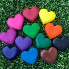 Love Heart Crayons