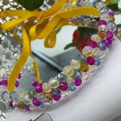 Colourful Rainbow Glass Beads Headband