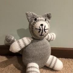 Grey Cat Soft Teddy