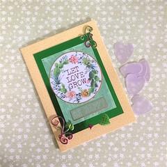'Let Love Grow' Orange Floral Blank Card