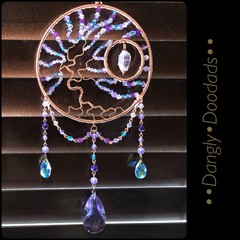 Big Tree of Life Suncatchers with Stone Dangles (two available)