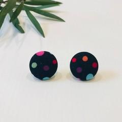 Coloured Polka Dot Earrings