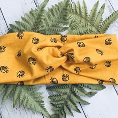 Womens or Teens Headband Soft Stretchy Turban  Topknot Twistknot Style