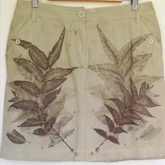 Botanically Printed Skirt - Upcycled Fashion - Wearable Art