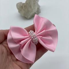 Ruffle Pearl Hair Clip Bow