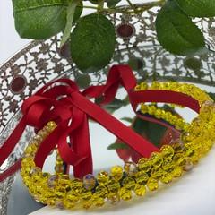 Snow White Glass Crystals Headband