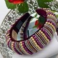 Purple Fashion Embellished Padded