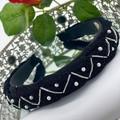 Minimalist Pearls and beads Lurex Braided Headband