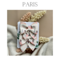 Litchi leather bow clips - pack of 2