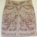 Botanically Printed Skirt - Upcycled - Size 8 - Wearable Art