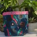 Jocelyn Proust King Parrot BrightPot Fabric Basket/Planter Large