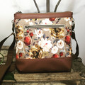Jasmine Crossbody Bag - Winter Roses/Tan Faux Leather