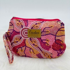 Australian native floral zipper pouch