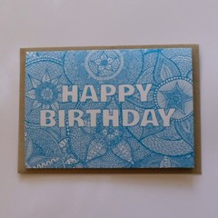Happy Birthday Mandala Greeting Card | Flat Postage for Order