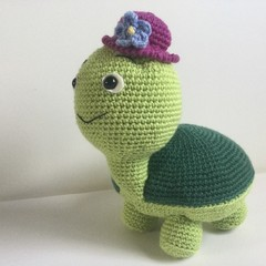 Tubby the Turtle - crocheted toy