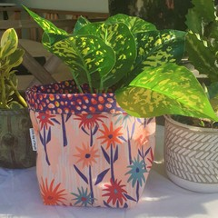 Wildflowers by Ellie Whittaker BrightPot / Fabric Basket/Planter Medium