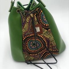 Bucket Bag Microfiber Vegan Leather