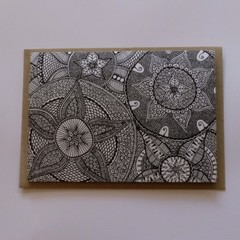 Solid Mandala Greeting Card | Flat Postage for Order