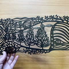 """Ocean Forest"" woodcut (medium size)"