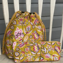 Norma Knitting Bag with Notions Pouch