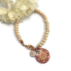 Bracelet with enamel charm #3