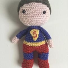 Super Boy -  crocheted softies