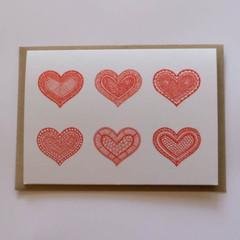 Love hearts Mandala Greeting Card | Flat Postage for Order