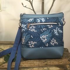 Jasmine Crossbody Bag - Blue Wattle/Blue Faux Leather