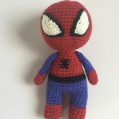 Spider Boy -  crocheted softies