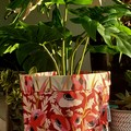 Poppies and Proteas BrightPot/Fabric Basket / Plant Pot Large
