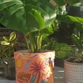 BrightPot / Fabric Planter / Fabric Basket - Ellie Whittaker wild outback flame