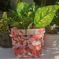 Poppies and Proteas BrightPot/Fabric Basket / Plant Pot Medium
