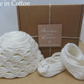 Elise - Baby Shoes and Hat Set - Newborn (0-3mths)