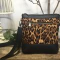Jasmine Crossbody Bag - Leopard Print/Black Faux Leather