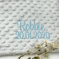 Personalised birth blanket | Embroidered | Newborn gift | Personalised gift idea