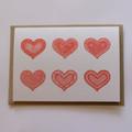 Love hearts Mandala Greeting Card
