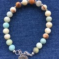 Genuine Amazonite gemstone Bracelet