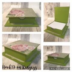 Notepaper Holder/ Trinket Box