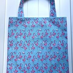 Flamingos library/shopping bag